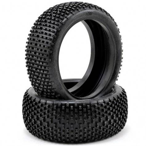 HB RACING KHAOS TIRE Unmounted (Red/ 1/8 Buggy)