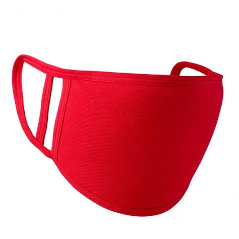 Washable 2-ply face covering - Red