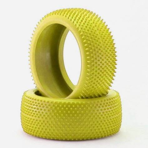 VR Tyres Small pin 1/8th Tyres - 1pr - YELLOW